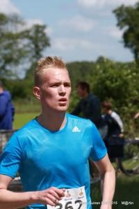 Alwin Hoorn winnaar 5km Ruinen