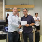 Toernooiorganisator Maarten Wichgers (links) met Zainal Palmans